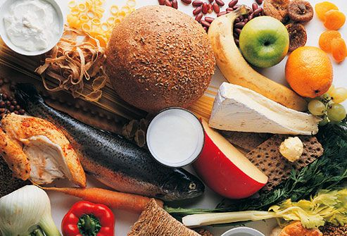 Assortment of nutritious whole foods for blood sugar control and insulin