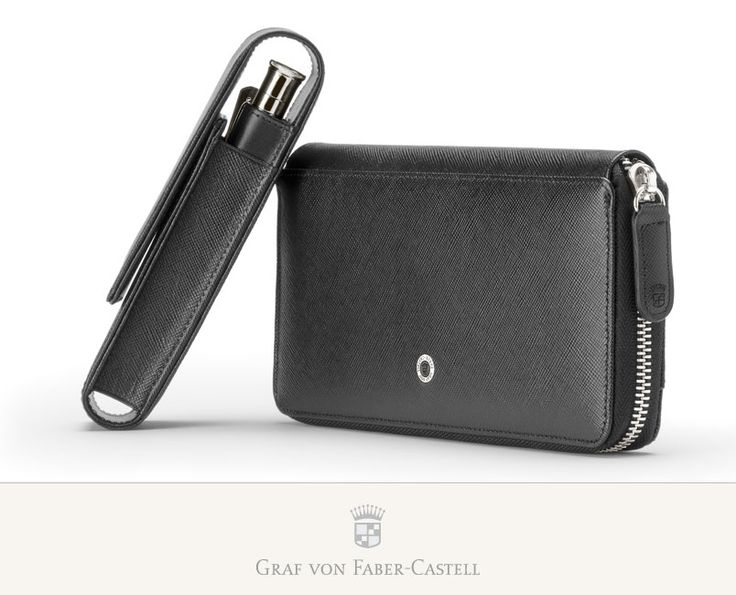 Several different leather cases provide an elegant way to keep one's pen and pencil always to hand and well protected. #leather #saffiano #craftsmanship #wallet #pencase