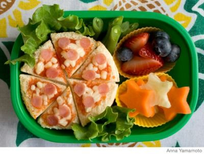 Bento Lunch Boxes - Healthy Lunch Ideas for Kids - these would probably work in muffin tins also.  Mostly good for toddlers, and my boys are probably too old & finicky to appreciate them, but this pin has about 20 really cute ideas.