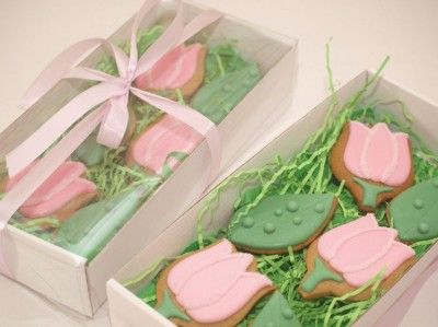 Tulip Cookies are great for Easter, Mother's Day, Birthday or just because.