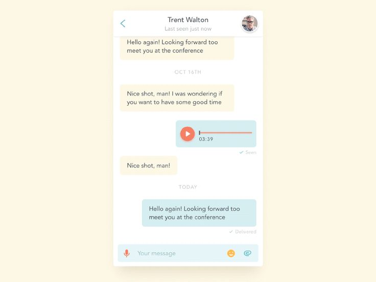 Chat/Messaging UI Inspiration — Muzli -Design Inspiration