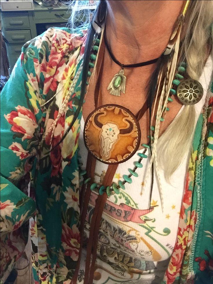 Crazy layered western look- gypsy cowgirl