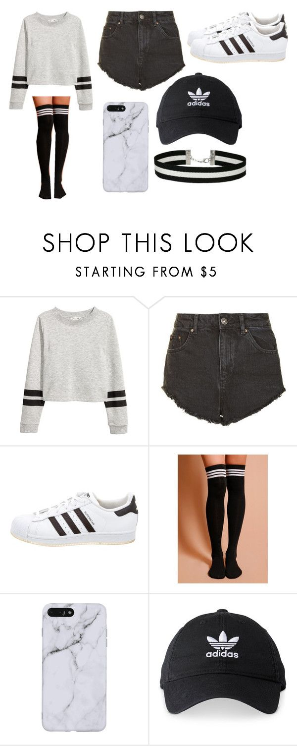 """""""outfit"""" by cutecookiegirl ❤ liked on Polyvore featuring Topshop, adidas and Miss Selfridge"""