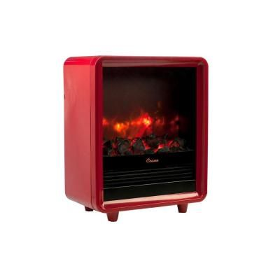 Crane 1500-Watt Mini Fireplace Radiant Electric Portable Heater - Red-EE-8075 R at The Home Depot