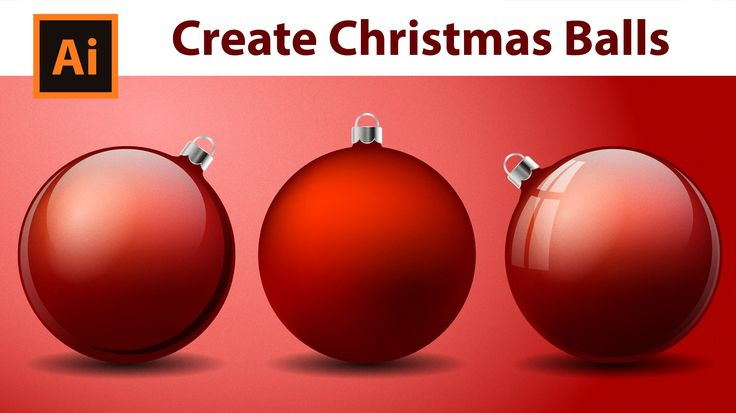 Illustrator Tutorial - How to create Christmas Balls