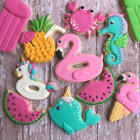 "Kaylynn's Cookies (@kaylynns_cookies) on Instagram: ""Summer Fun"""