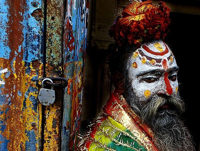 The colours of a Sadhu man.