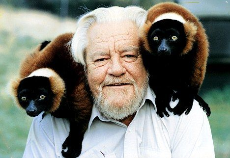 Gerald Durrell -Established the Jersey Wildlife Conservation Trust  ....oh the hours spent reading his books.....bliss!