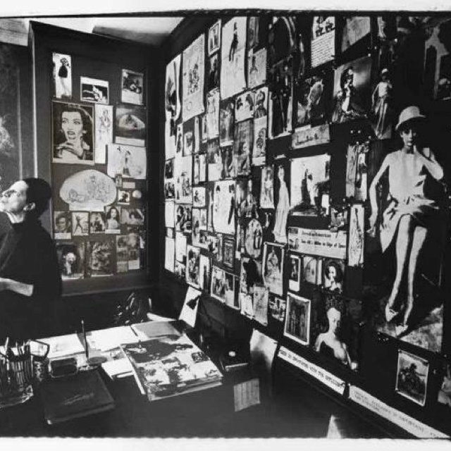 Diana Vreeland in Vogue office