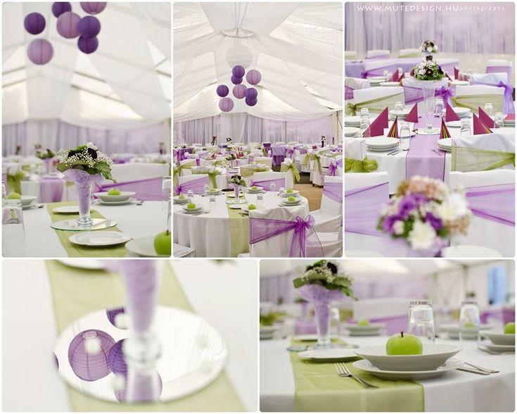 esküvői dekoráció, százszorszebb esküvő