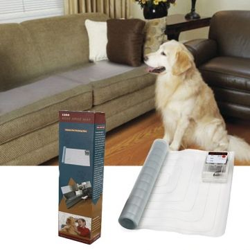 The Scat Mat is a touch sensitive training pad which tells your cat or dog