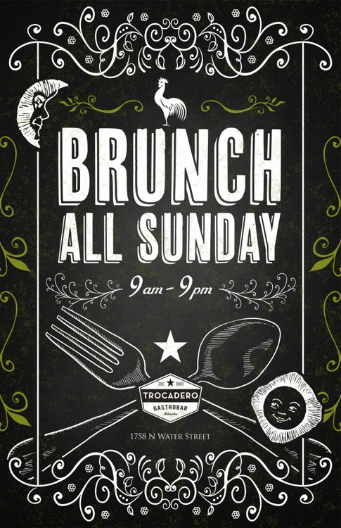 33 best images about brunch ads on pinterest wake up On brunch advertising