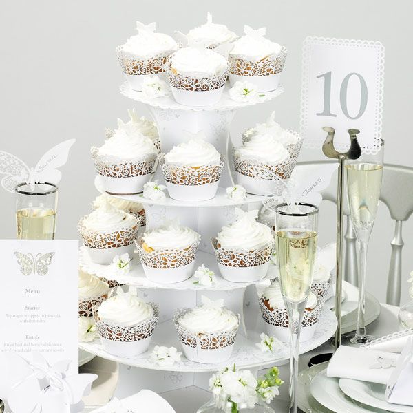 Something in the Air 4 Tier Cake Stand | Cardboard Cupcake Stand Wedding Cupcake Stand - Buy at drinkstuff
