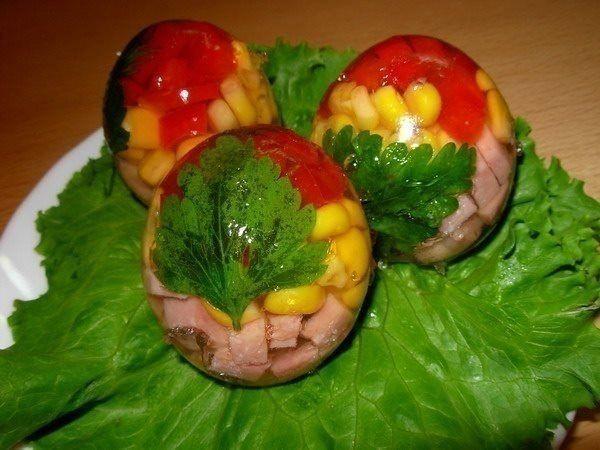 Заливные яйца! Самая оригинальная идея для праздничного стола!