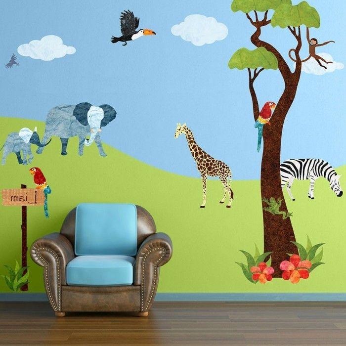 Kinderzimmer wandgestaltung dschungel  Die 25+ besten Wandtattoo dschungel Ideen auf Pinterest ...