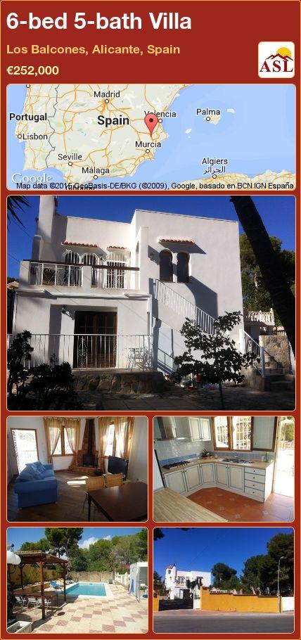 6-bed 5-bath Villa in Los Balcones, Alicante, Spain ►€252,000 #PropertyForSaleInSpain