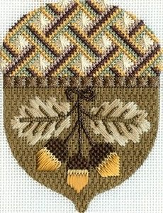 Thanksgiving needlepoint acorn - exquisite design