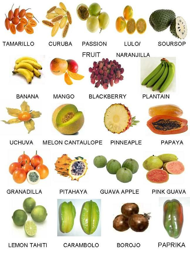 fruit and vegetable diet fruits that start with e