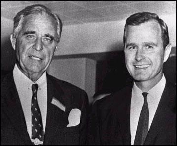 Prescott Bush and his son George H. W. Bush