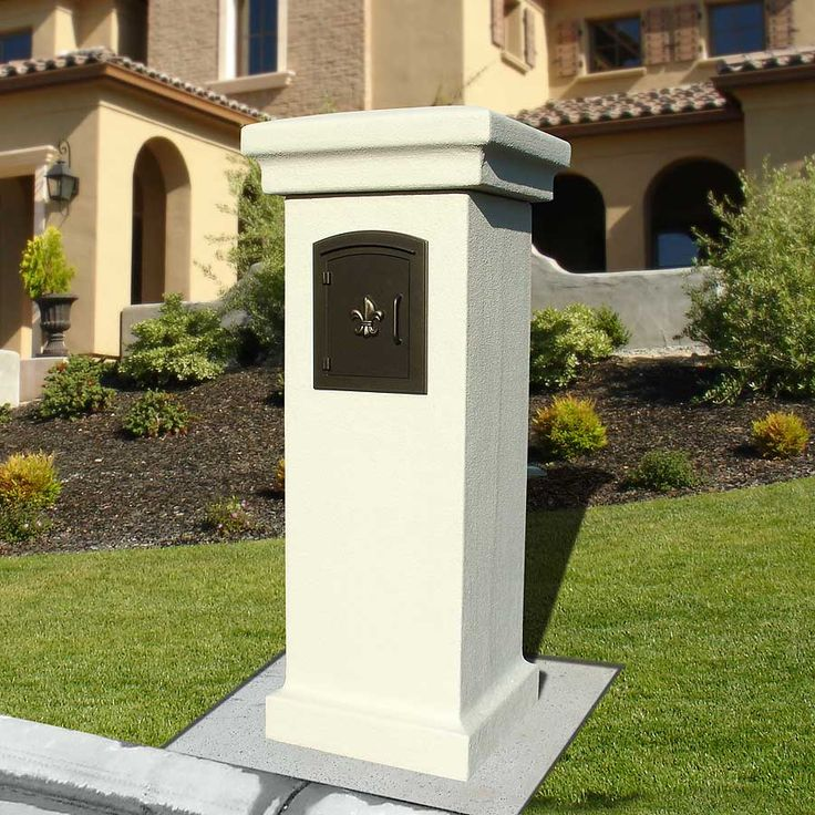 Perfect Pre Fabricated Stucco Mailbox Column   Slate Gray Manchester Mailbox ... Mailbox  DesignsMailbox IdeasStone ...