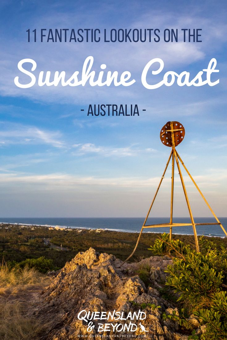 One of the best things on Queensland's Sunshine Coast are the scenic views: Here are 11 ideas for Sunshine Coast Lookouts dotted along the coastline that you can easily hike to or enjoy a picnic at! 🌐 Queensland & Beyond #australia #queensland #sunshinecoast #thingstodo #lookout