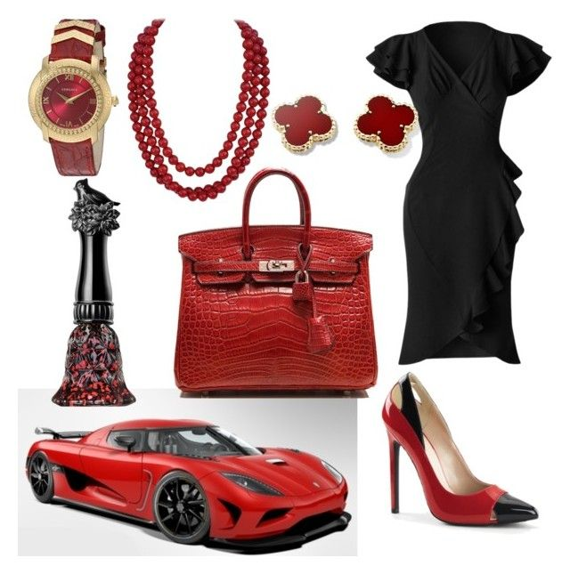 """""""Koenigsegg and a bag"""" by pinnulinen on Polyvore featuring Hermès, Anna Sui and Versace"""