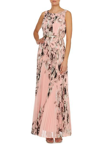 £128.00   Printed pleated maxi