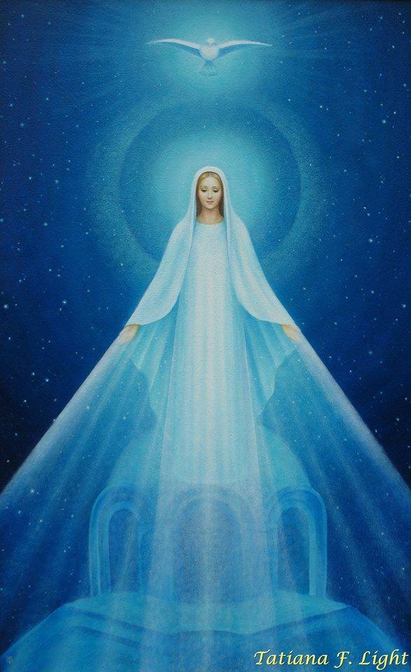 Our Lady of Zeitoun» - painter Tatiana F. Light - «Явление Девы Марии в Египте»