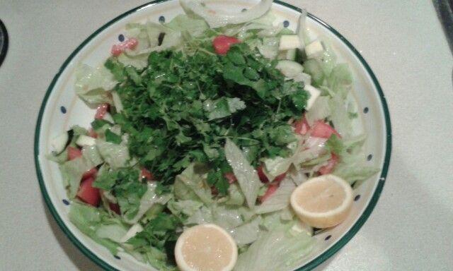 Big salad no oil no salt