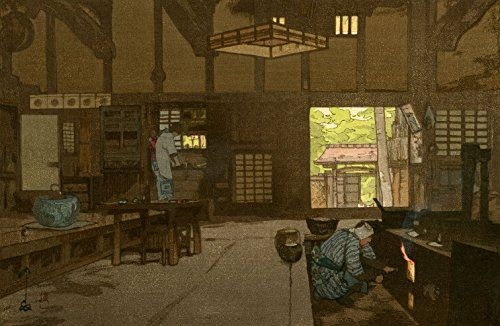 "Japanese Art Print ""Farmhouse"" by Yoshida Hiroshi ... http://www.amazon.com/dp/B01EPQ4MMQ/ref=cm_sw_r_pi_dp_qcaixb1MG77BB"