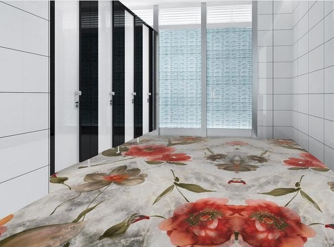 27.02$  Buy now - http://alim3r.shopchina.info/1/go.php?t=32678407311 - customized 3d vinyl flooring waterproof wallpaper for bathroom Jigsaw pattern pvc tile flooring self adhesive floor tiles  #shopstyle