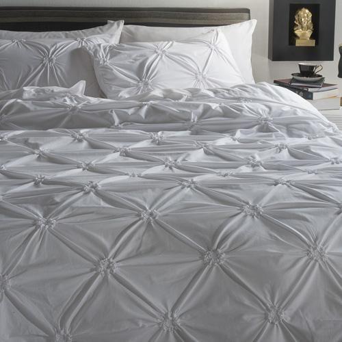 100% Cotton Percale   200 Threadcount   Pin tuck embelishment   Machine washable   Matching Pillowcases