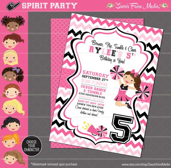 84 best Cheerleading Party images – Cheerleading Birthday Party Invitations