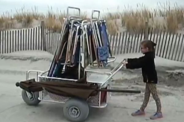 Easy to Push Beach Cart