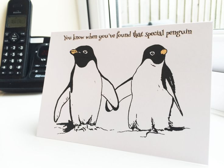 New to drknice on Etsy: You know when you've found that special penguin blank card and envelope (A6) (2.00 GBP)