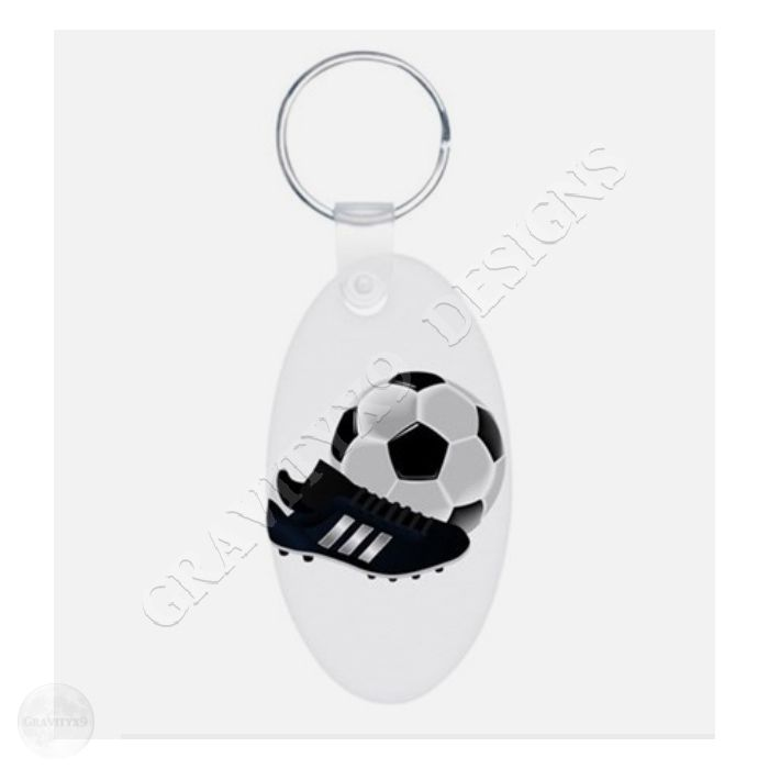 Soccer Ball And Shoe Aluminum Oval Keychain Soccer Ball And Shoe Keychains By Gravityx9 Custom Key Ring Custom Keychain Keychain Design