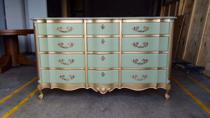 French Provincial Dresser w/Mirror (SOLD) by LauraDesignsShop on Etsy https://www.etsy.com/listing/187550659/french-provincial-dresser-wmirror-sold