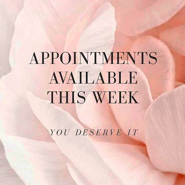 Pamper yourself this week!! Only 2 free appointments left