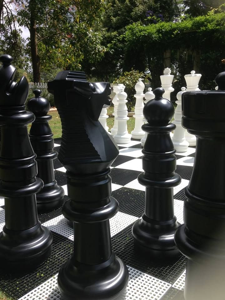 Life size chess for something different.
