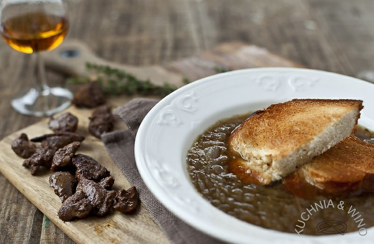 Onion soup with Calvados