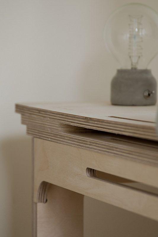 CNC Plywood Desk. iMac Shelf Detail