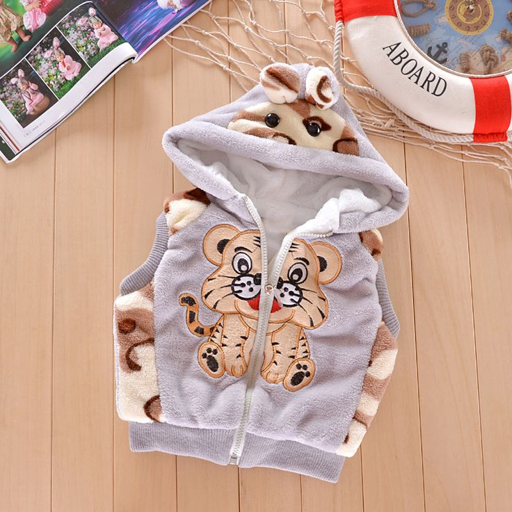 Thicken  !!!!!!   New 2013 autumn -summer winter kids'  boy girl children outwear  waistcoat kids tiger fur vest  baby clothing $9.95 - 10.95