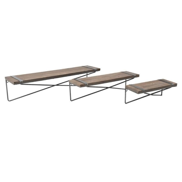 Wall Shelf Set Of 3 Pieces - Shelves - Bookshelves - FURNITURE - inart