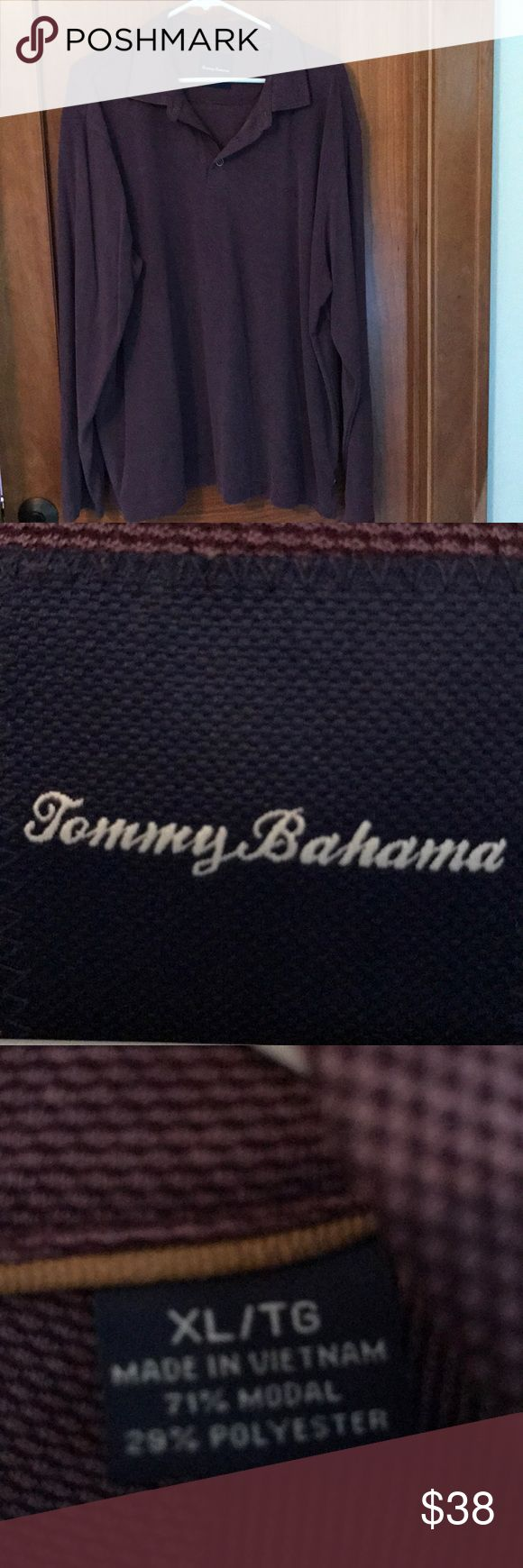 Tommy Bahama long sleeve polo shirt Tommy Bahama long sleeve polo shirt. Size XL. Purple/burgundy in color. Tommy Bahama Shirts Polos
