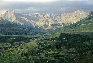 Drakensberg Mountains, RSA. Went here on holiday once as a kid - absolutely stunning.