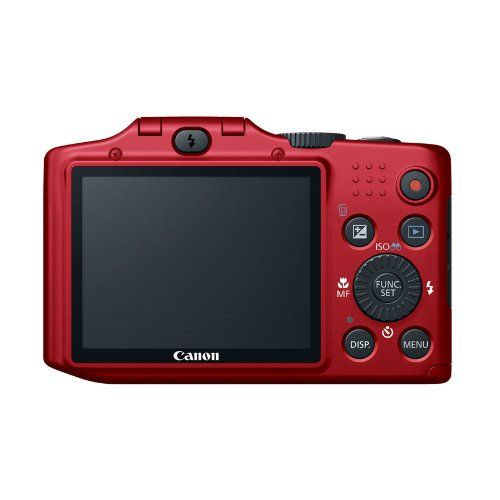 Review Cheap Canon PowerShot SX160 IS 16.0 MP Digital Camera with 16x Wide-Angle Optical Image Stabilized Zoom with 3.0-Inch LCD (Red)