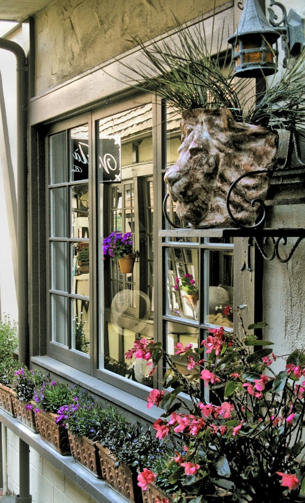 """""""End of the End~ antique shop in Carmel, CA~  love the lion's head urn ~majestic~"""