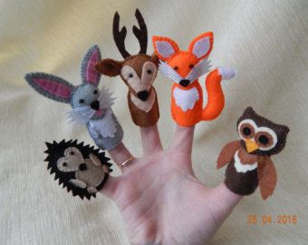 Animal finger puppets: The Little Mole and his by feltonfinger