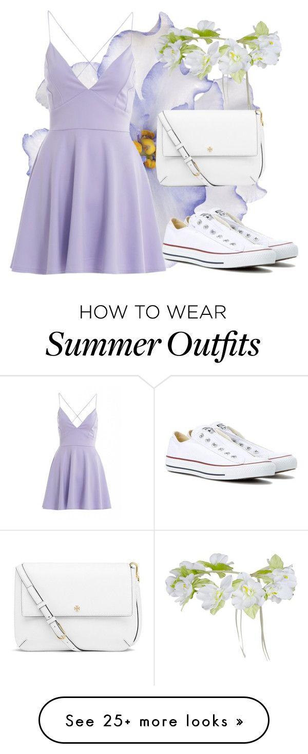 """Summer outfit for a walk"" by liza-ionova on Polyvore featuring Universal Lighting and Decor, AX Paris, Converse and Tory Burch"