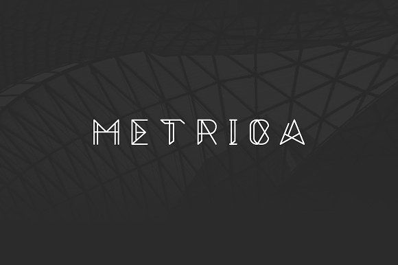 Metrica Font by Oliver James on @creativemarket